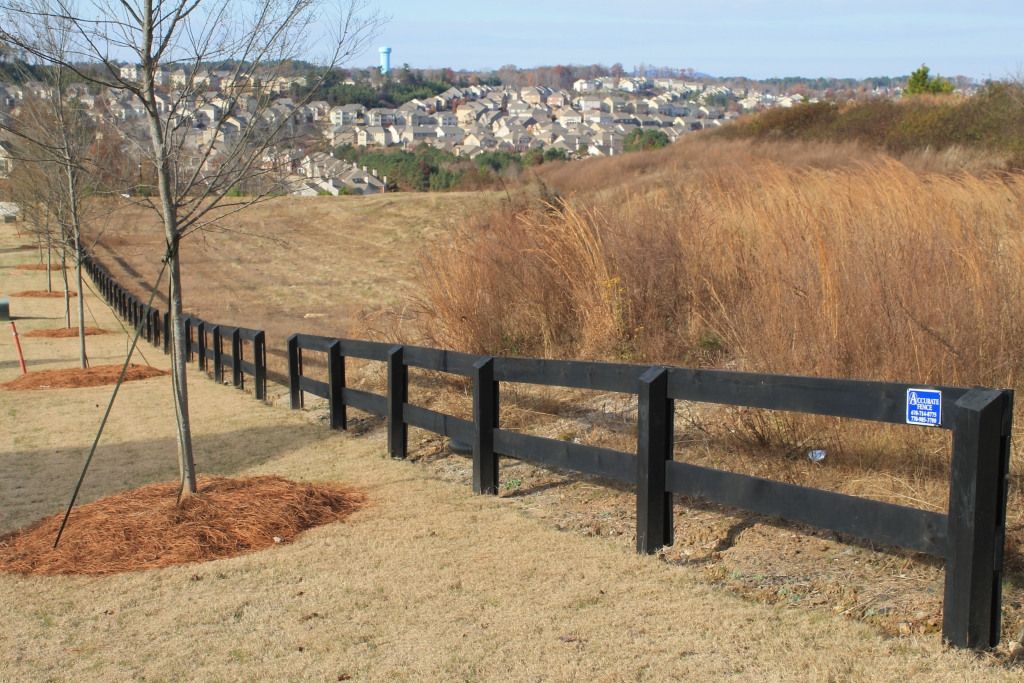 Wood fences designs accurate fence atlanta company