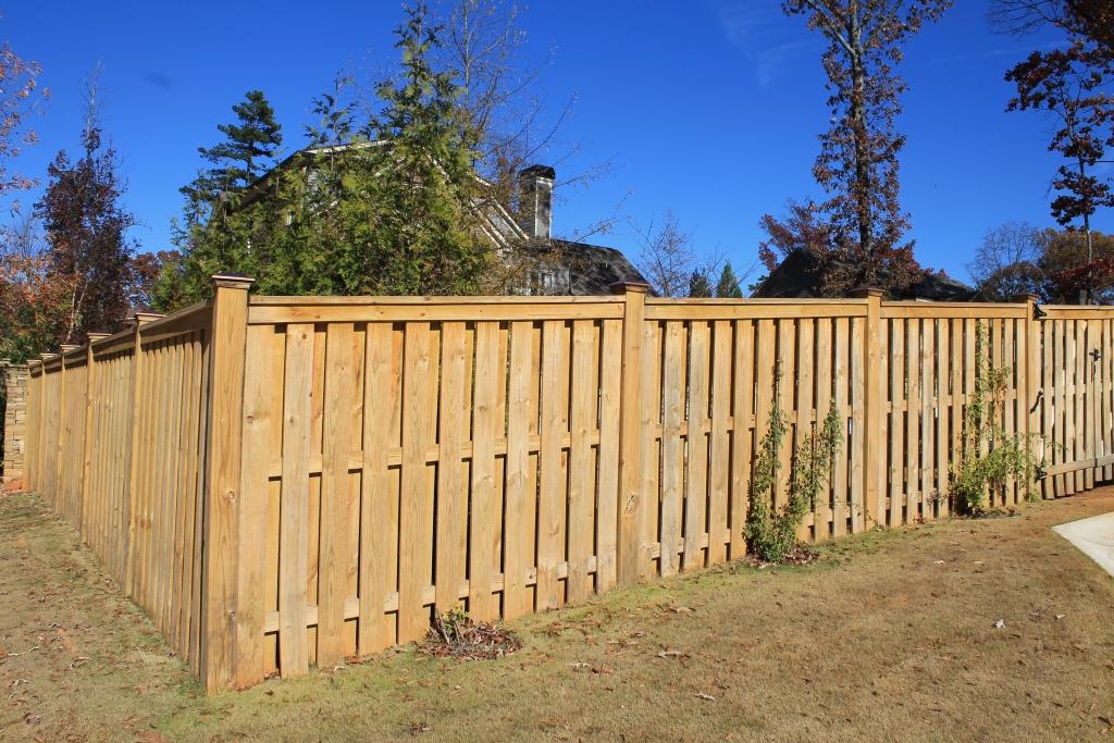 Wood fences designs accurate fence atlanta company